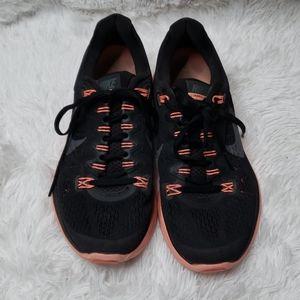 Nike Lunarglide 5 Black & Neon Pink Sneakers